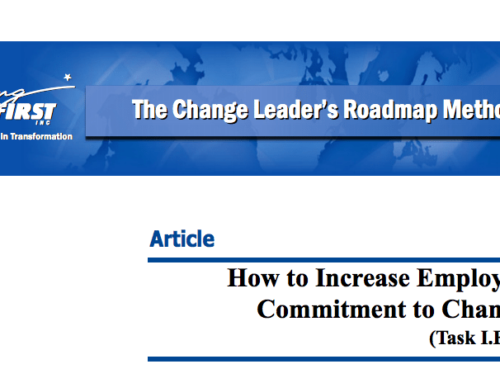 How to Increase Employee Commitment to Change